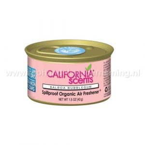 California Scents Balboa Bubblegum, geurblikje. Original Spillproof Organic Air Fresheners