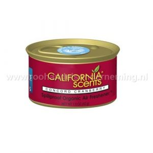 California Scents Concord Cranberry, geurblikje. Original Spillproof Organic Air Fresheners