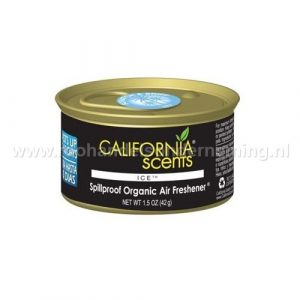 California Scents Ice, geurblikje. Original Spillproof Organic Air Fresheners