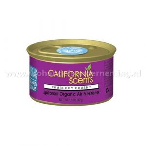 California Scents Pomberry Crush, geurblikje. Original Spillproof Organic Air Fresheners